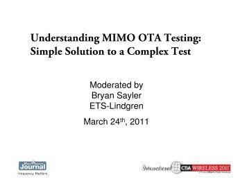 MIMO OTA Antenna Measurements - Microwave Journal