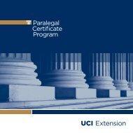 Paralegal Certificate Program - UC Irvine Extension - University of ...