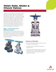 Velan Gate, Globe & Check Valves (pdf) - AREVA NP Inc.