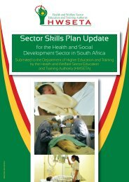 Click here - The Health and Welfare Sector Education and Training ...