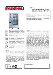 """CombiMaster CM 202 Electric (20 x 18"""" x 26""""/40 ... - MyChefStore.com"""