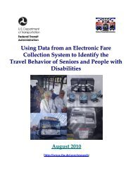 Using Data from an Electronic Fare Collection System to Identify the ...