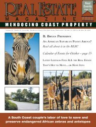 MENDOCINO COAST PROPERTY - Real Estate Magazine