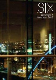 Christmas & New Year's Eve Menus - SIX Restaurant