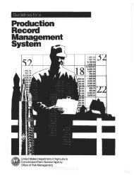Guidelines for a Production Record Management System