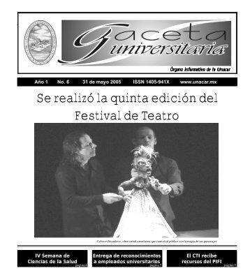 gaceta 6 - Universidad Autónoma del Carmen
