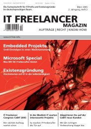 IT Freelancer Magazin Nr. 2/2005
