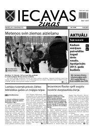 laikraksts «Iecavas Ziņas» 15.02.2013.
