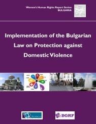 Implementation of the Bulgarian Law on Protection against Domestic ...