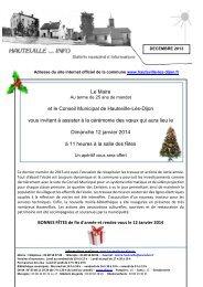 Le Maire et le Conseil Municipal de Hauteville-Lès-Dijon vous ...