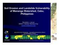 Soil Erosion and Landslide Vulnerability of Mananga Watershed ...