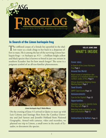 download the FrogLog 87 - Amphibian Specialist Group