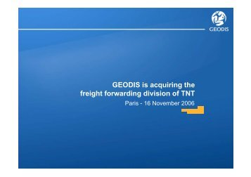 GEODIS is acquiring the freight forwarding division ... - CEP Research