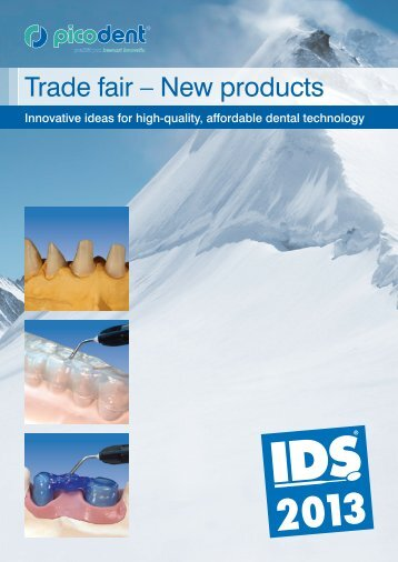 """Trade fair – New products"" brochure. - picodent"