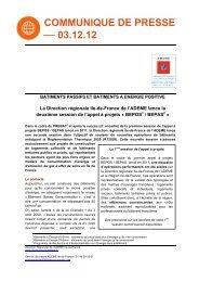 Appel à projets BEPOS BEPAS 2013 - Ademe Ile de France
