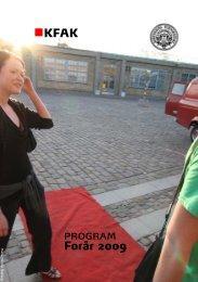 KFAK program Forår 2009