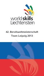 Teamflyer - worldskills Liechtenstein