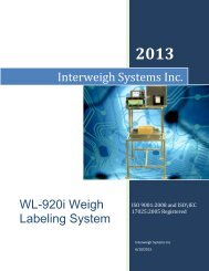 WL920i Weigh Labeler - Interweigh Systems Inc.