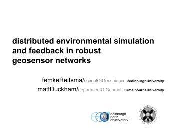 Femke Reitsma and Matt Duckham, Distributed Environmental ...