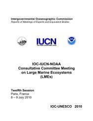 IOC-IUCN-NOAA Consultative Committee Meeting on Large Marine ...