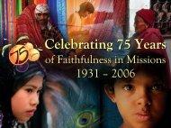 Celebrating 75 Years Celebrating 75 Years - Calvary Church