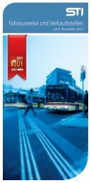 Fahrausweise und Verkaufsstellen - Verkehrsbetriebe STI