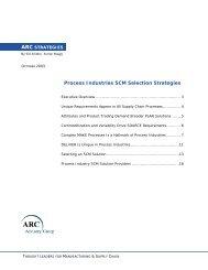 Process Industries SCM Selection Strategies - ARC Advisory Group