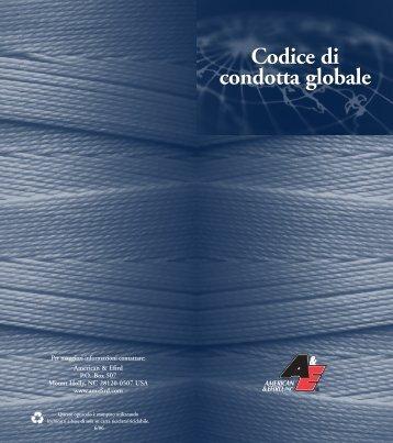 Codice di condotta globale Codice di condotta globale - American ...