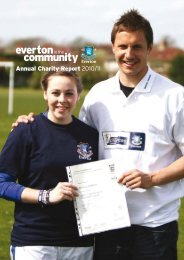 2011 Annual Report - Everton In The Community