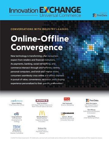 Online-Offline Convergence - First Data