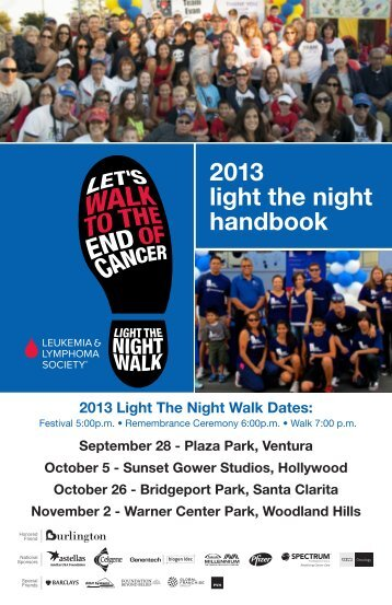 Walker Welcome Kit - Light The Night Walk