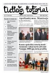 Lietuvos totoriai Nr. 112-115 - Tautinių bendrijų namai