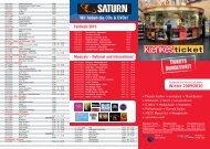 Klenkes ticket – ausgewählte Veranstaltungen
