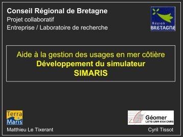 16h35 : Matthieu Le Tixerant, Cyril Tissot (Terra Maris, Géomer)