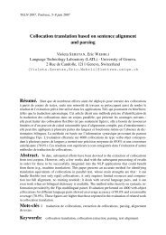 Collocation translation based on sentence alignment and ... - LATL