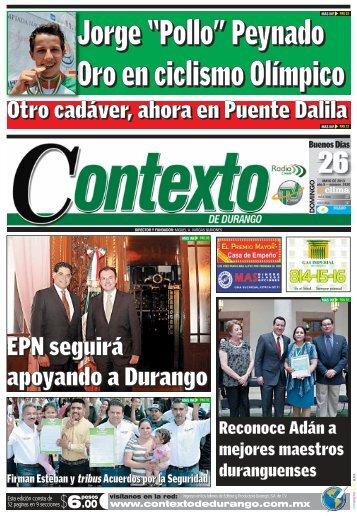 26/05/2013 - Contexto de Durango