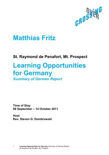 Download English Summary of German Report - CrossingOver