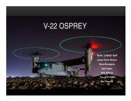 Team Lobster Golf vertical lifts off on the V-22 Osprey
