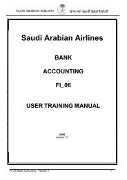 Saudi Arabian Airlines - DOC SERVE
