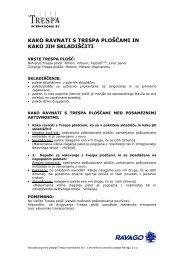 Trespa - navodila za skladiščenje - Ravago