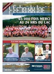 65 000 FOIS MERCI AU 24 HRS DU LAC LOUIS ... - L'Écho du Lac
