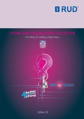 LIFTING AND LASHING POINT COLLECTION - RUD