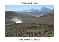 CALENDAR 2011 THE ROAD TO TIBET - Alistair J Bray