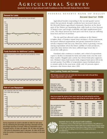 Second quarter 2009 - Federal Reserve Bank of Dallas