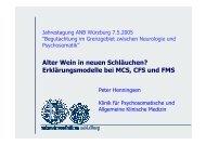 Erklärungsmodelle bei MCS, CFS und FMS