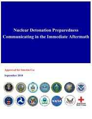Nuclear Detonation Preparedness Communicating in the - REMM