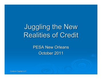 Juggling the New Realities of Credit