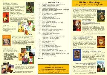 Bestellschein als PDF - Geistliche Familie vom Heiligen Blut