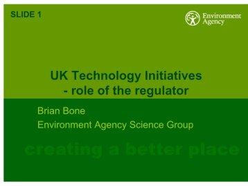 UK Technology Initiatives-Role of the Regulator