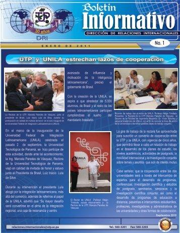 Boletín DRI 2011 ENERO - Universidad Tecnológica de Panamá